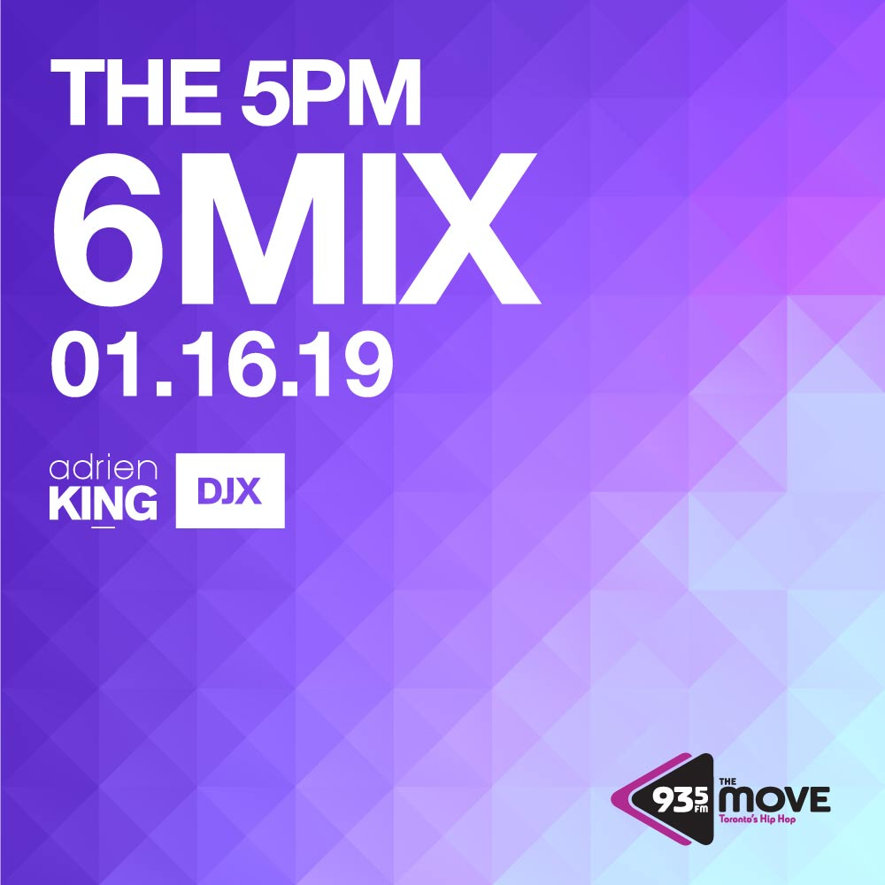 DJX – 93.5 The Move – 5pm 6 Mix – Jan 16, 2019